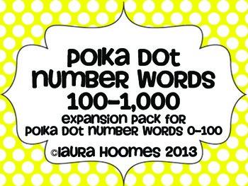 Number Words 100-1,000 Expansion Pack