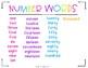 Number Words - 2nd & 3rd Grade Version