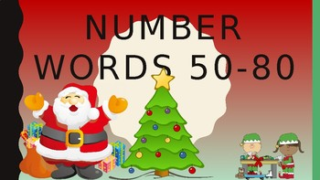 Number Words 50-80 Game