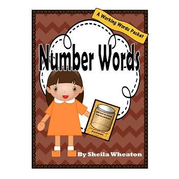 Number Words:  A Working Words Packet for Young Readers