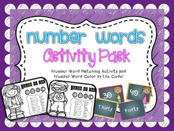 Number Words Activity Pack