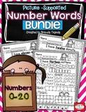 Number Words Practice Pages BUNDLE: 0-20
