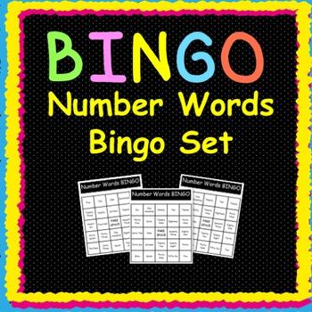 Number Words:  Bingo Game