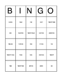 Number Words Bingo For Young Students