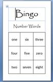 Number Words Bingo Game