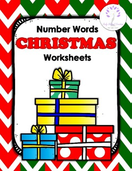 Number Words CHRISTMAS Worksheets