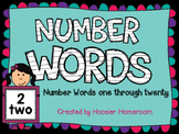Number Words Classroom Signs - One through Twenty