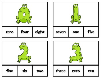 Number-Words Clip Cards