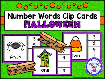 Number Words Clip Cards: Halloween (Numbers 1-20)