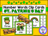 Number Words Clip Cards: St. Patrick's Day (Numbers 1-20)