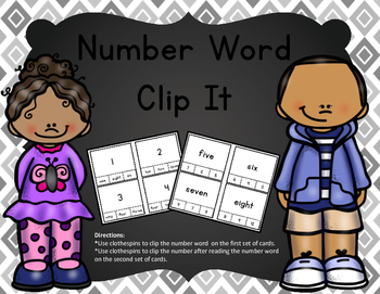 Number Words Clip It