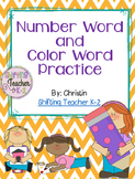 Number Words & Color Words {Print & Go}