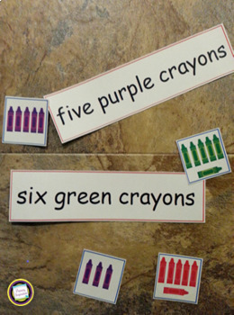 Number Words and Color Words Sort and Match Activities
