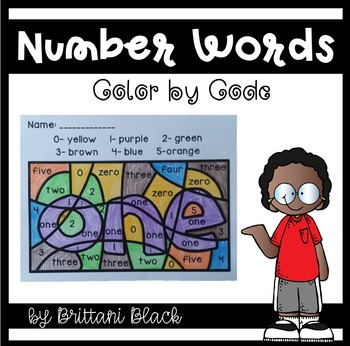 Number Words~ Color by Code