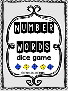 Number Words Dice Game