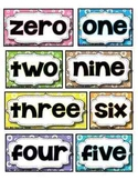 Number Words & Digits (Classroom Display + Student Sizes)