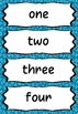 Number Words Display or Flashcards