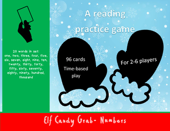 Number Words Elf Candy Grab Game