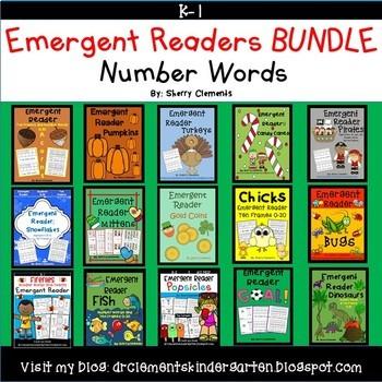 Number Words Emergent Reader BUNDLE