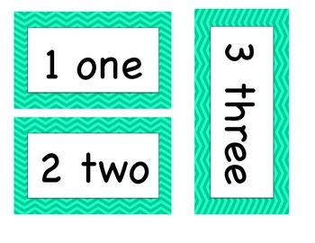 Number Words ( For Word Wall, Math Focus Board, etc.)