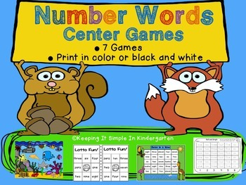 Number Words - Games