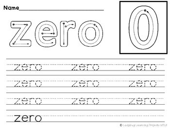 Number Words Handwriting Mats
