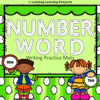 Number Words Handwriting Mats