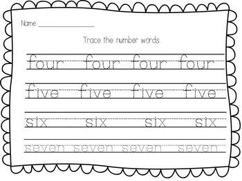 Number Words Handwriting Practice {Zero to Ten}