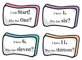 Number Words - I have, who has Cards - Grade 2