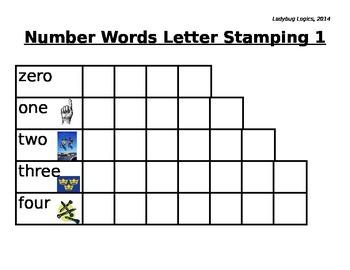 Number Words Letter Stamping