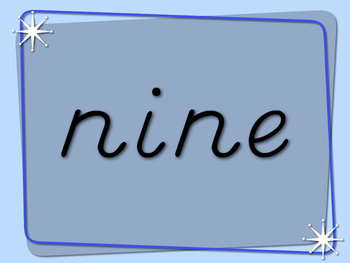 Number Words Video    (D'nealian Font)