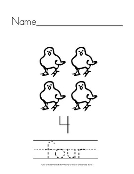 Number Words: Manuscript Handwriting Practice