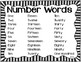 Number Words Printable for Math Journals and Centers
