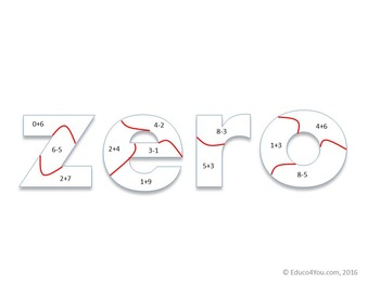 FREE! Number Words Math Puzzle - Adding To and Subtracting From 10
