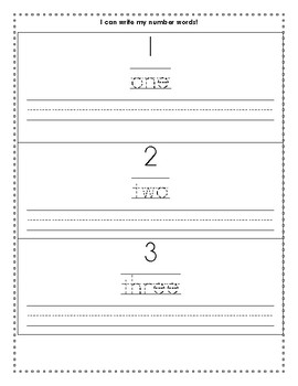 Number Words Math Writing