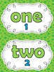 Number Words Mini-Posters