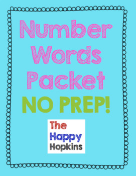 Number Words NO PREP Packet