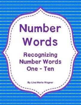Number Words - Numbers 1-10
