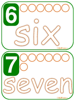 Number Words - Numbers & Counting Playdoh Mats