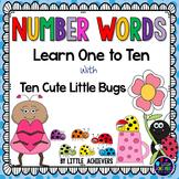 Number Words Worksheets