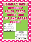 Number Words Packet: Color, Trace, Write, & Cut-and-Paste