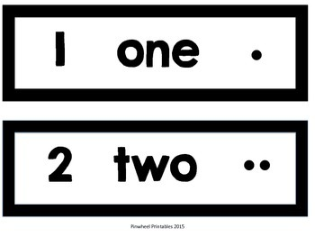 Number Words Posters {All Black}
