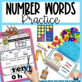 Number Words Practice for Kindergarten and First Grade