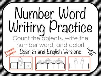 Number Words Practice