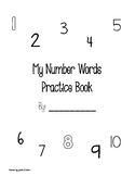 Number Words Practice Book