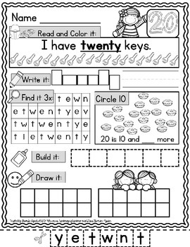 Number Words Practice Pages: 11-20