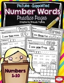 Number Words Practice Pages