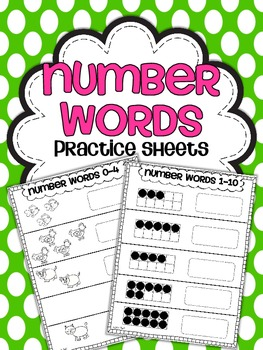 Number Words Practice Sheets {Write it!}