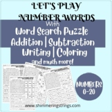 Number Words Practice with Word Search Puzzle, Addition, S