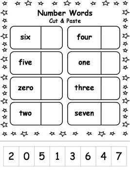 Number Words Printable Worksheets